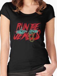 run t j Women's Fitted Scoop T-Shirt