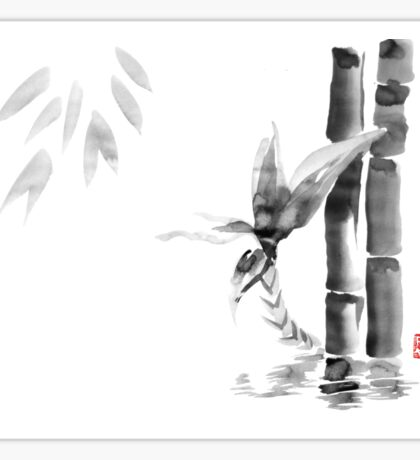floating bamboo Sticker
