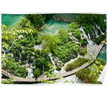 Plitvice Lakes National Reserve, Croatia. Poster