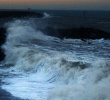 Warning  - High seas and gale force winds expected Sticker