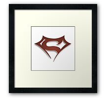 Superbadman Framed Print