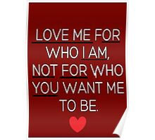 Love Me or I Am Not for You Poster
