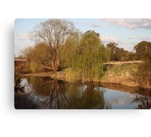 Reflections on The MacIntyre River Canvas Print