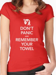 Don't Panic and Remember Your Towel Women's Fitted Scoop T-Shirt