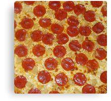 Pizza Salmi Pepperoni Canvas Print