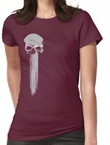 long skull Womens Fitted T-Shirt