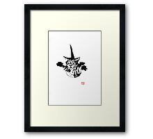 falling cat Framed Print