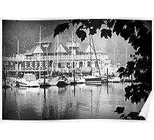 Boathouse at Stanley Park Poster