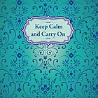 keep calm and carry on by sabrina card