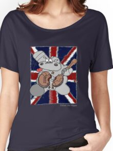 Hippo Union Jack Thrash Women's Relaxed Fit T-Shirt