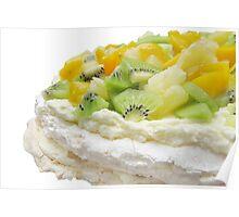 Fruit Pavlova Dessert Poster