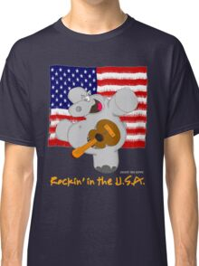 Hippo Rockin in the USA Classic T-Shirt