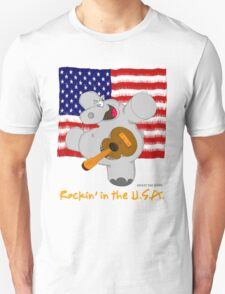 Hippo Rockin in the USA T-Shirt