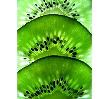 Macro Kiwi Fruit Photographic Print