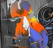 Street Art 1 (The Musician) by stevefinn77