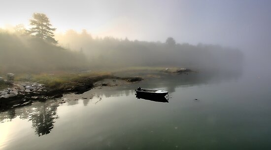 Boat - Morning Fog by T.J. Martin