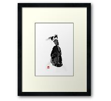 watching cat Framed Print