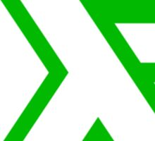 haskell (white on green) Sticker