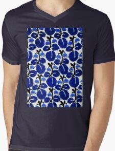 Bluebell forest pattern Mens V-Neck T-Shirt