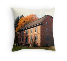Dey Mansion In October Throw Pillow