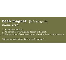 Beeb magnet - Dictionary entry Photographic Print