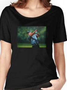 Tiger Woods painting 2 Women's Relaxed Fit T-Shirt