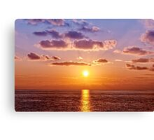 Sunset on Ligurian Sea Canvas Print