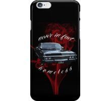 Never in fact homeless iPhone Case/Skin