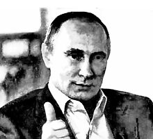 Vladimir Putin. Thumbs-up for Peace by Albert