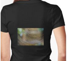 Golden Silk Orb Weaver's Web Pattern 2 Womens Fitted T-Shirt