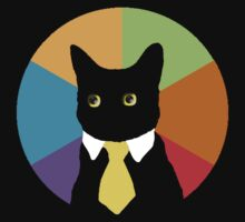 Business Cat (Stained Glass Window) by FlyNebula
