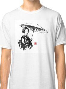 geisha under umbrella Classic T-Shirt