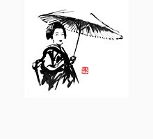 geisha under umbrella Unisex T-Shirt