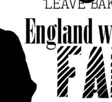 Sherlock - Mrs. Hudson Leave Baker St? (Black)  Sticker