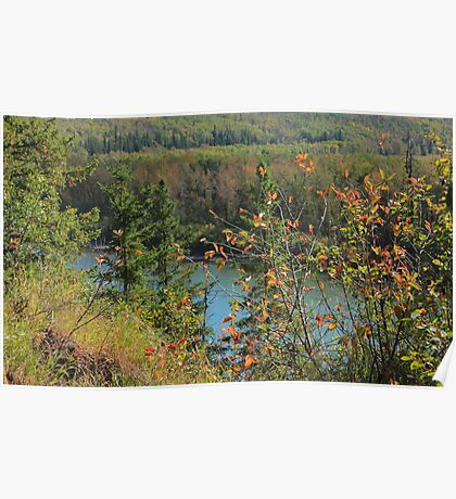 North Saskatchewan River in September Poster