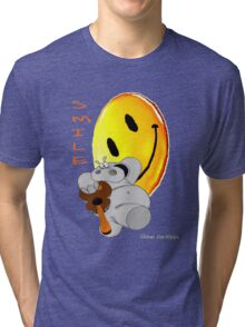 Chicot the Hippo and Smilie Tri-blend T-Shirt