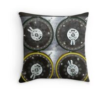 Bletchley Park Dials Throw Pillow