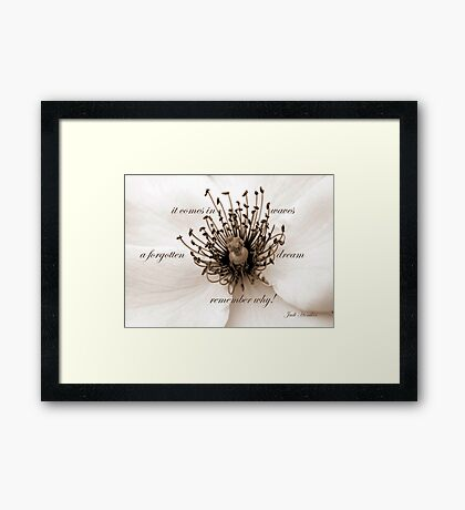 It Comes In Waves~~ Framed Print