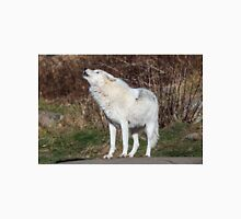 An Arctic Wolf Howls during the day Unisex T-Shirt