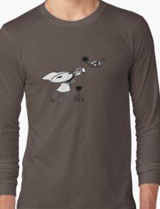 macro girl, bee & dandelion Long Sleeve T-Shirt