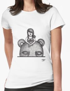 Bear Ride Womens Fitted T-Shirt