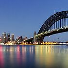 Sydney harbour opera house circular quay and bridge by Gary Blackman