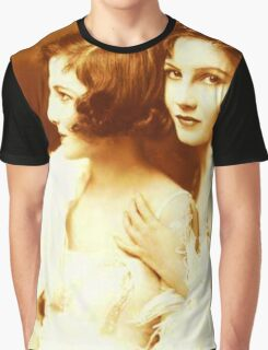 Two Beautiful Ladies Vintage photo Graphic T-Shirt
