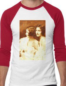 Two Beautiful Ladies Vintage photo Men's Baseball ¾ T-Shirt