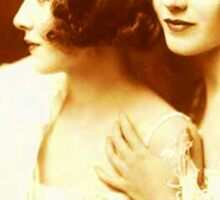 Two Beautiful Ladies Vintage photo Sticker