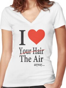 Dr. Horrible Freeze Ray love your hair Women's Fitted V-Neck T-Shirt