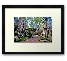 Ta Phrom - The lost temple. Framed Print