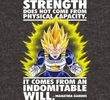 Strength Comes From An Indomitable Will - Vegeta T-Shirt
