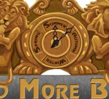 Lion Reading Clock Sticker