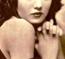 20's Glamour Model vintage photo Sticker